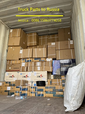Container of Truck Parts to Russia